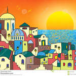 http://www.dreamstime.com/stock-photos-magic-town-sunrise-near-sea-vector-illustration-image50472593
